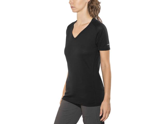 Devold Breeze Camiseta Cuello en V Mujer, black